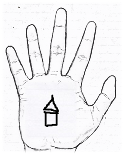 Sign of a temple in palmistry