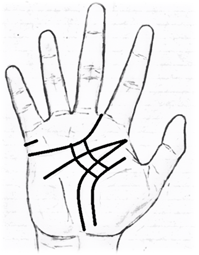 Influence lines in palmistry