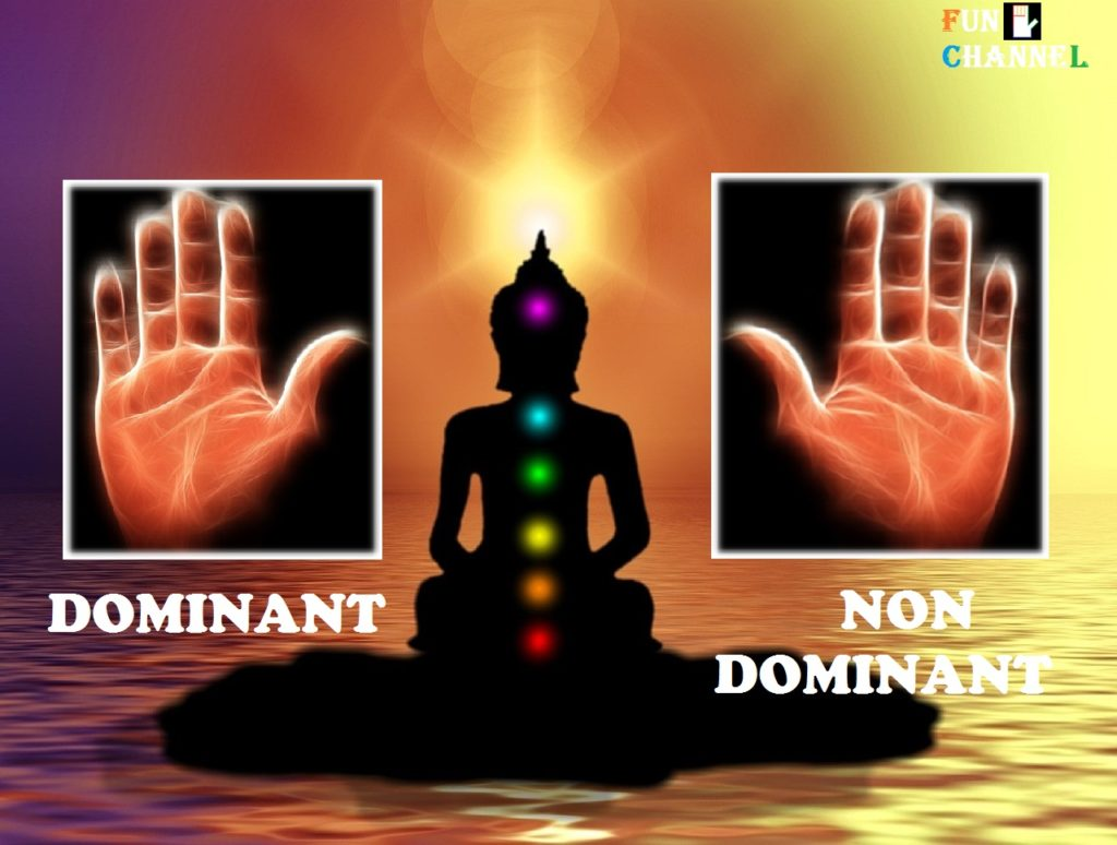 dominant hand and non-dominant hand palmistry