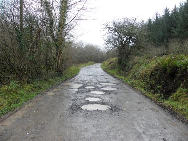 Potholes found on the road