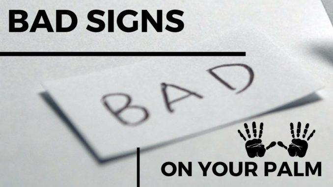 bad signs in palmistry