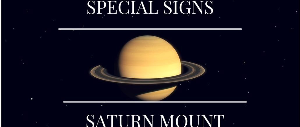 Special Signs on the mount of Saturn-Palmistry