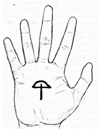 Umbrella sign in palmistry