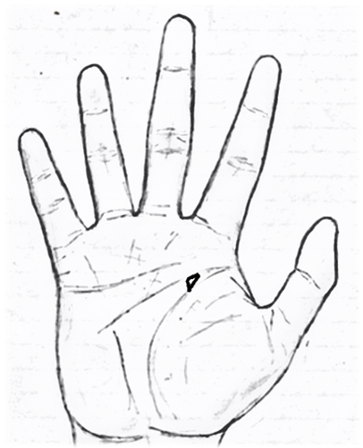 Lottery triangle in palmistry