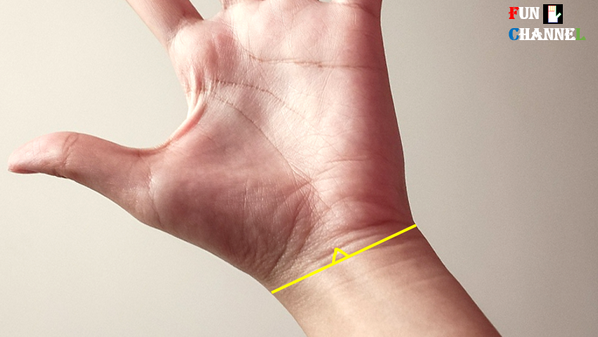 Triangle on bracelet in palmistry