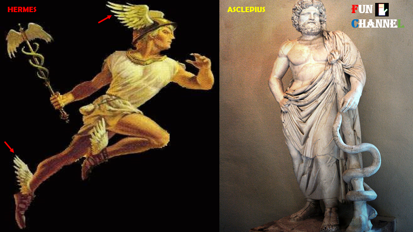 God Hermes and Asclepius
