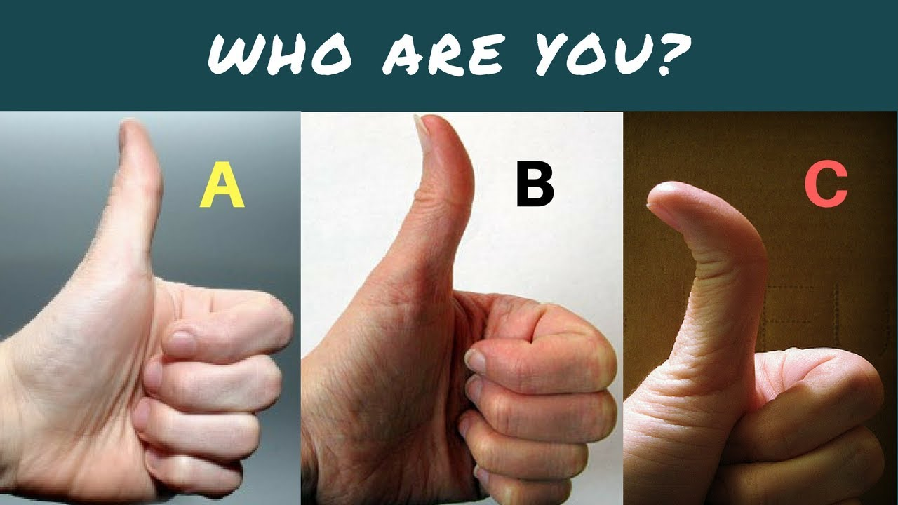 thumb and your personality