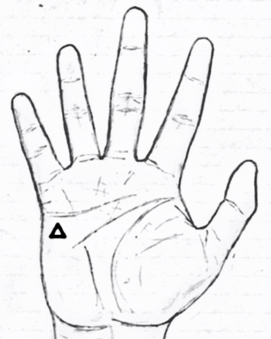 triangle on upper mars palmistry