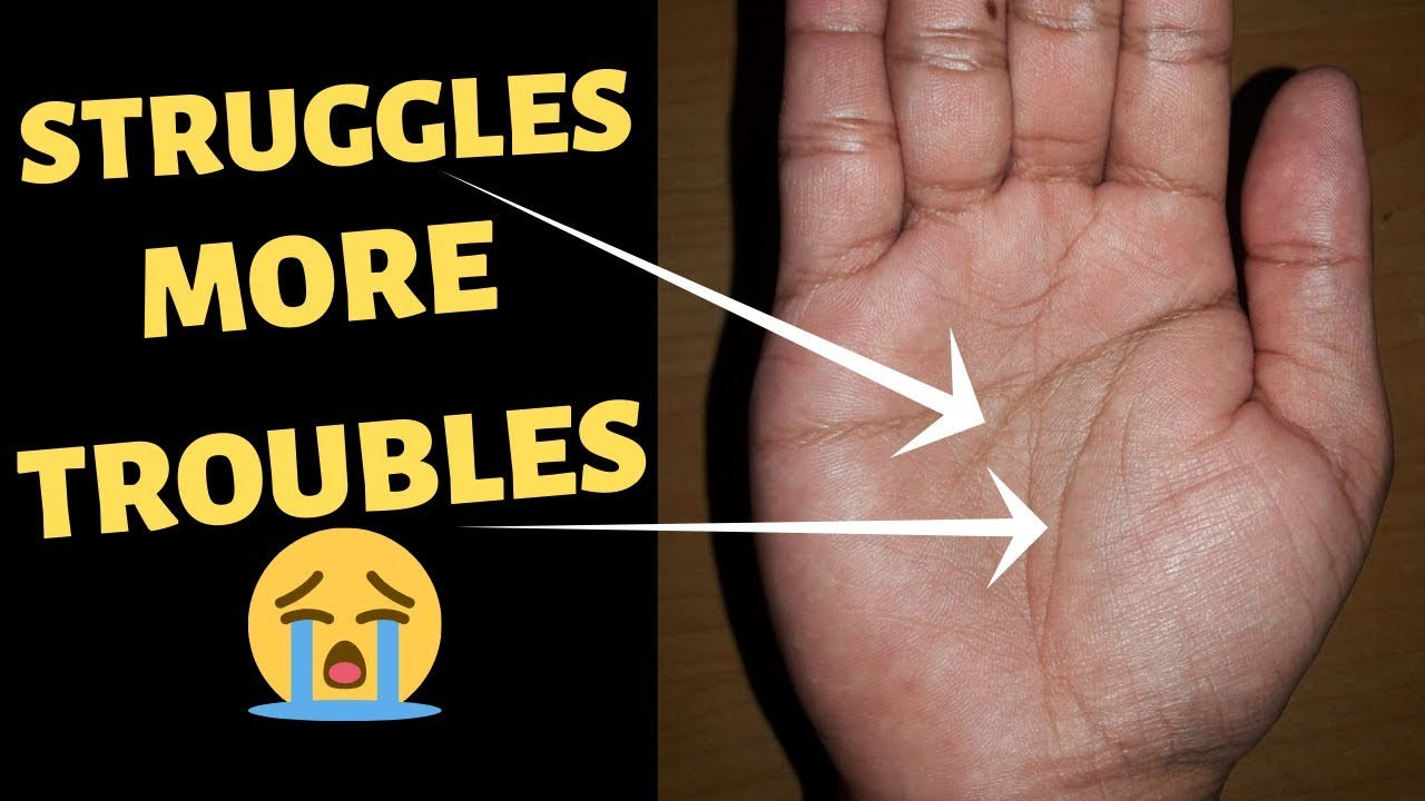 struggle and obstacle signs in palmistry