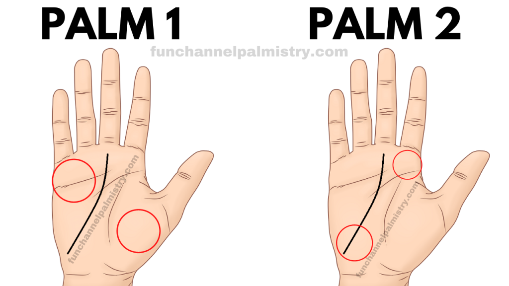 palm reading of two palms