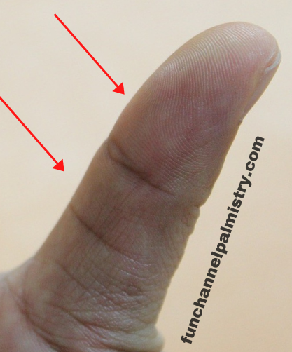 balanced thumb palm reading